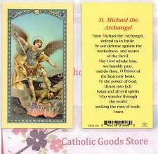 St. Michael the Archangel with Saint Michael's Prayer - Laminated Holy Card