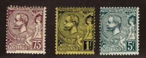 Monaco 25, 26, & 29 Mint OG F Catalog $61