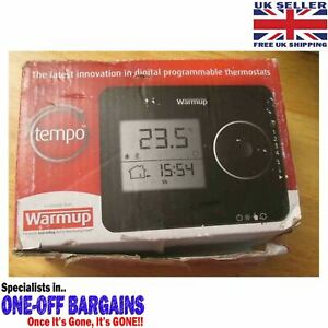 WARMUP TEMPO THERMOSTAT BLACK UNUSED BUT HAS COSMETIC MARKS £££ BARGAIN DEAL £££