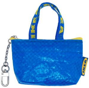 IKEA KNÖLIG Tasche Schlüsselanhänger Kleingeld Reisverschluss, klein blau Neu