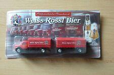 Modelo Camión CERVEZA transporte de Oldtimer MAGIRUS Blanco Rössl HS 19