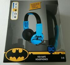 Batman Kid Safe Volume Limiting Headphones Ages 3-9