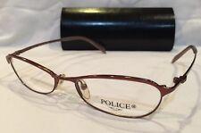 POLICE Titanium Metal Eyeglass Frames 2641 Copper 52-16-135 NOS w/ Case