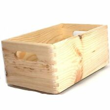 Holzkiste aus Massivholz stapelbar L 30 cm Holzkisten Kisten Spielkiste Holzkorb