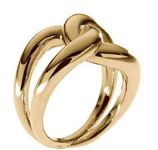 MICHAEL KORS GOLD TONE TWISTED LINK RING MKJ1150710  SIZE (6)
