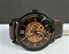 Fossil Herrenuhr Skeleton Automatik Uhr Lederband braun ME3155 Armbanduhr