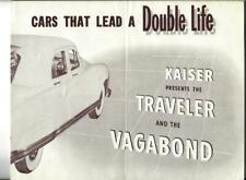 1949 ? KAISER Traveler & Vagabond Sales Brochure