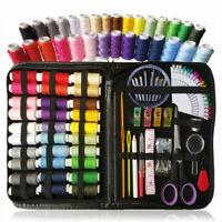 100 Piece Portable Travel Small Home Sewing Kit Case Needle Thread Scissor Set