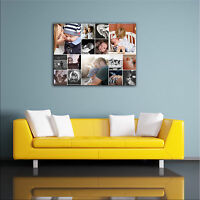 YOUR OWN PHOTO COLLAGE CANVAS. PERSONALISED FRAMED PRINT - LANDSCAPE ALL SIZES