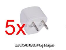 5 High Quality US AU UK to EU AC Power Plug Adapter Travel Converter fr 220-240V
