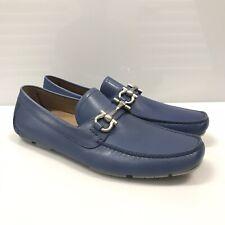 L-4006198 New Salvatore Ferragamo Parigi Blue Loafers Shoes Size US 8.5D