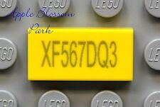NEW Lego x1 Truck Car LICENSE PLATE 1x2 PRINTED YELLOW MINIFIG TILE Numbers Vary