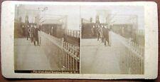 Stereophoto New York Pier del  Grande Ponte di Brooklyn