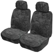 Sheepskin (Lambswool) Car Seat Covers 14mm Air Bag Safe. Pair. New PATCHWORK