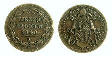 pcc2001_4) ROMA  Pio IX  (1846-1870)  1/2 Baiocco 1849 AN IIII