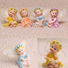 4pcs Miniature Resin Angel Garden Fairy Ornament Flower Pot Plant Home DIY Decor