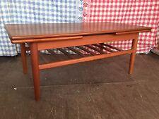 Vintage Mid Century Retro Trioh Teak Danish Extending Draw Leaf Coffee Table