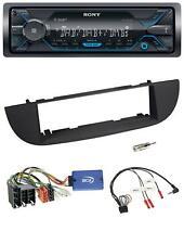Sony USB Lenkrad Bluetooth DAB Autoradio für Fiat 500 ab 2007 schwarz