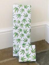 Botanical Cannabis Leaf Wrapping Paper Marijuana Gift Wrap Large Sheets