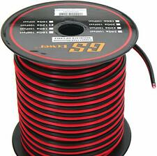 GS Power 12 Ga Gauge 100 feet CCA Copper Clad Aluminum Red/Black 2 Conductor Bon