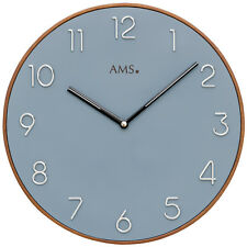 AMS 50 Wall Clock Kitchen Office Dining Room hours work wooden watch 195