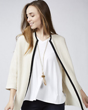 MarlaWynne Ottoman Stitch Jacket with Tipped Detail String M