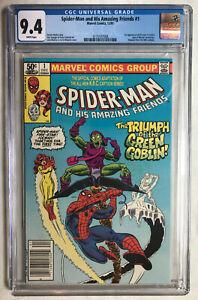 Spider-Man and His Amazing Friends #1 -> 1st Firestar -> CGC 9.4 WP (Newsstand)