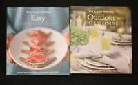 LOT OF 2 WILLIAM SONOMA OUTDOOR ENTERTAINING EASY ENTERTAINING HARDCOVER BOOKS