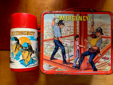 Aladdin EMERGENCY! TV Show 1973  Metal LUNCHBOX With THERMOS!