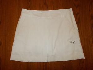 PUMA WHITE TENNIS OR GOLF SKORT-SKIRT WOMENS 10 GOOD CONDITION
