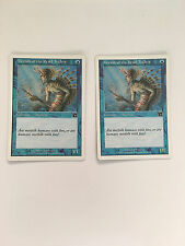 MTG: Magic The Gathering x2 Merfolk of the Pearl Trident Free Combine Shipping!