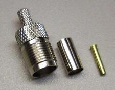 1 x TNC-Crimp-enchufe hembra para RG 58 u (m3608)