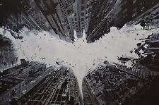 Batman Sign - 30x20 Inch Canvas Art Work - Framed Picture Print Wall Art