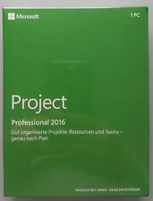 MS Project 2016 Professional Pro PKC medialess 32/64 bits h30-05454 alemán nuevo
