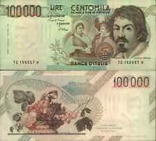 100.000 lire Caravaggio 01/12/1986