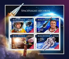Maldives 2016 MNH Spaceflight Records Yuri Gagarin Shephard 4v M/s Space Stamps