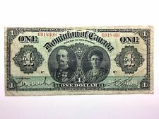 1911 Dominion Of Canada Large One 1 Dollar Canadian Circulated Banknote A836