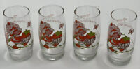 1980 Vintage Strawberry Shortcake Glasses**American Greetings Set of (4) Four