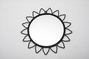 Miroir soleil en fer forgé artisanal