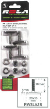 Rola Drop & Turn Bolt M8 28mm Stainless Steel Bolt Roof Rack Accessories RWSLA28