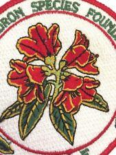"Rhododendron Species Foundation Patch Badge RSF 3 1/2"" Weyerhaeuser Federal Way"