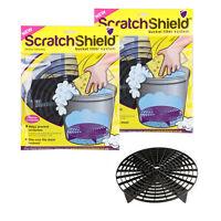 2x Scratch Shield Grit Guard Adjustable Universal Wash Bucket Water Filter Black