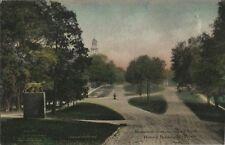 1913 Postcard - Monument Avenue Looking South - Bennington VT