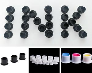 Ink Tattoo Black / White Cups Flat Base Pigment Microblading Makeup 10-100pcs UK