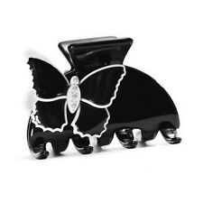 Moliabal MIlano Medium Hair Claw in Black with Butterfly Accents MSRP $55