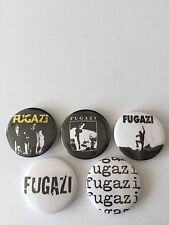 5 Fugazi button Badges Dischord The Argument 13 Songs Minor Threat Repeater HXC