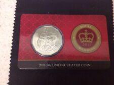 50c 2011, ROYAL WEDDING UNC COIN ON COLOUR CARD.