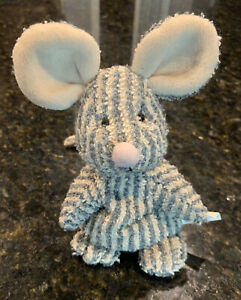 """Russ Home Buddies Sniffy Striped Mouse Terry Cloth Bean Plush 6"""" Stuffed Animal"""