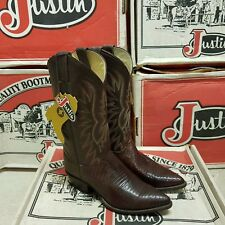 Justin 1988 vintage women's boot iguana lizard coa kiddie uk 4,5 EUR 36,5 us 6,5