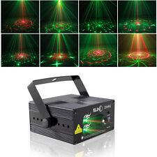 Suny 24 Patterns 3 Lens RG Laser Light Projector Blue LED Stage DJ show Lighting